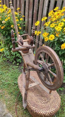 Zabytkowy kołowrotek, wrzeciono