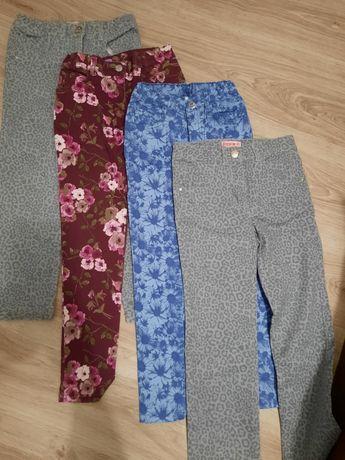 4x Spodnie, dżinsy, jeansy, rozm. 122-128. 6 lat, 7 lat
