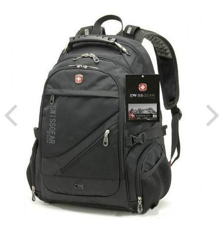 Рюкзак Swiss gear 8810 black с дождевиком, городской рюкзак