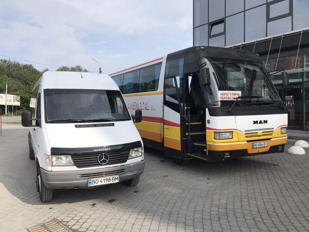 Пасажирські перевезення Тернопіль, Україна, 18-34, Оренда автобуса