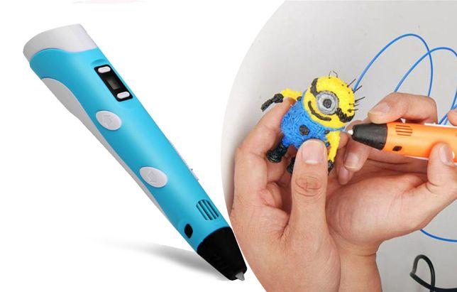 Детская 3D ручка с экраном для создания рисунков из пластика дисплеем