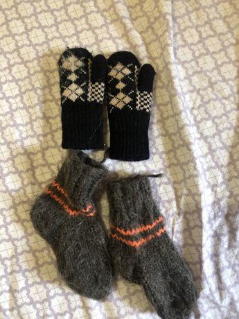 Носуи шерстяные, рукавицы детские