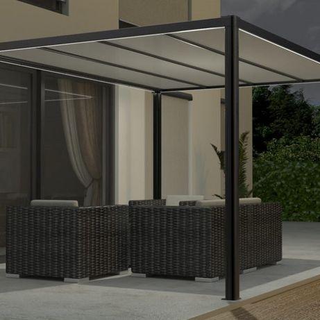 Pergola ogrodowa taras patio zadaszenie markiza roleta altana