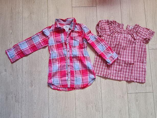 Lekka koszula i bluzka H&M rozmiar 116