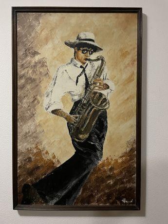 Картина оригинал художника Носова «Саксофонист»