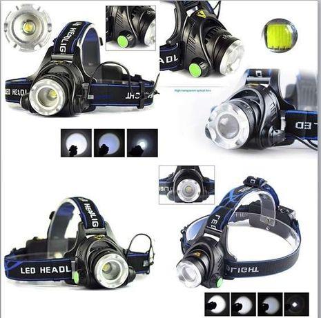 Lanternas de cabeça CREE XM-L T6 LED 3 modos com e sem ZOOM