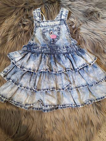 Sukienka dżinsowa rozmiar 86