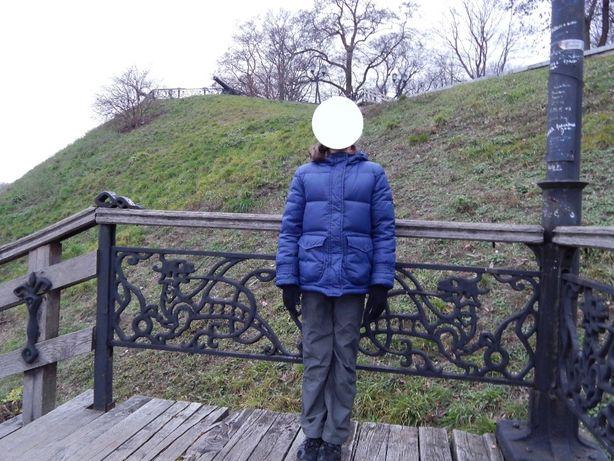 Пуховая куртка c капюшоном sela для девочки , рост 140-146 см, пуховик