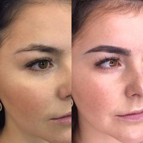 Окрашивание коррекция ламинирование бровей Elan макияж Оболонь