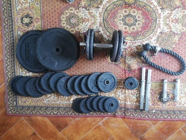 Conjunto de discos 28mm (90kg) + acessorios