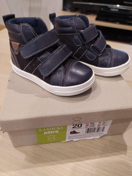 Buciki trzewiki buty dla chłopca Lasocki skóra r 20