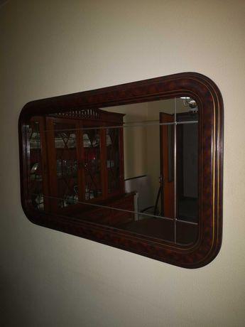 Elegante Espelho em madeira maciça 125x76