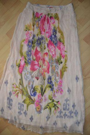 Spódnica DERHY WISKOZA piękna kwiaty R.M