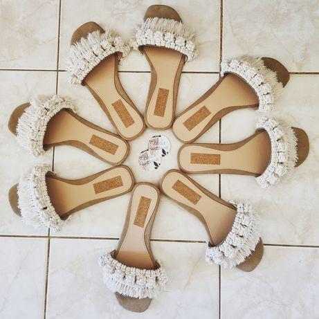 Sandálias senhora macramé