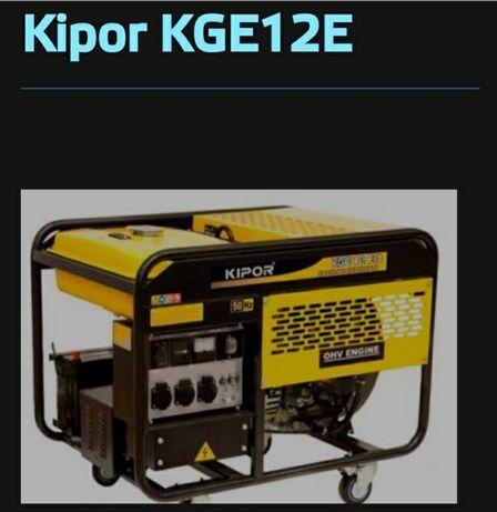 Оренда (прокат) генератора бензиновый  Kipor KGE 12-E3 (220-380в)