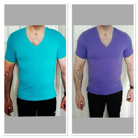 T-shirt, koszulka Calvin Klein r. L (turkus), r. XL (fiolet)