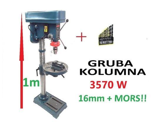 WIERTARKA STOŁOWA 3570W duża 1m uchwyt 16mm + WIERTŁA+MIARA