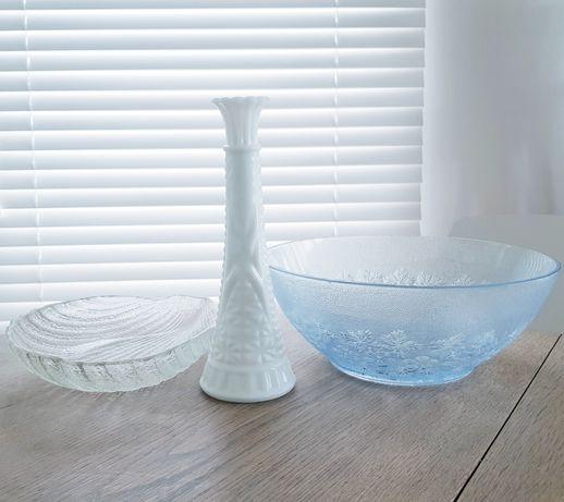 Misa wazon świecznik muszla szkło zabkowice prl