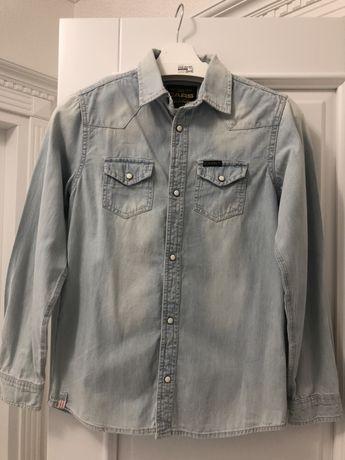 Рубашка джинсовая р.152-158!