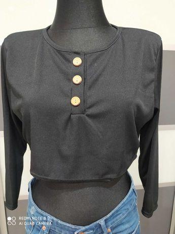 Bluzka top BOOHOO r.S/M nowa czarna
