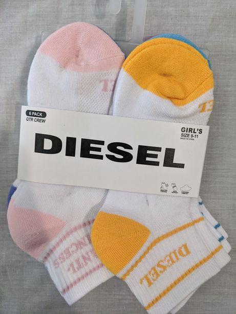 Meias ( 6 pares) para rapariga Diesel tamanho 27-30 novas