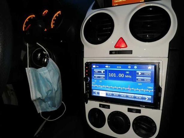 Radio 2 din com cabos de ligações é comando otimo estado