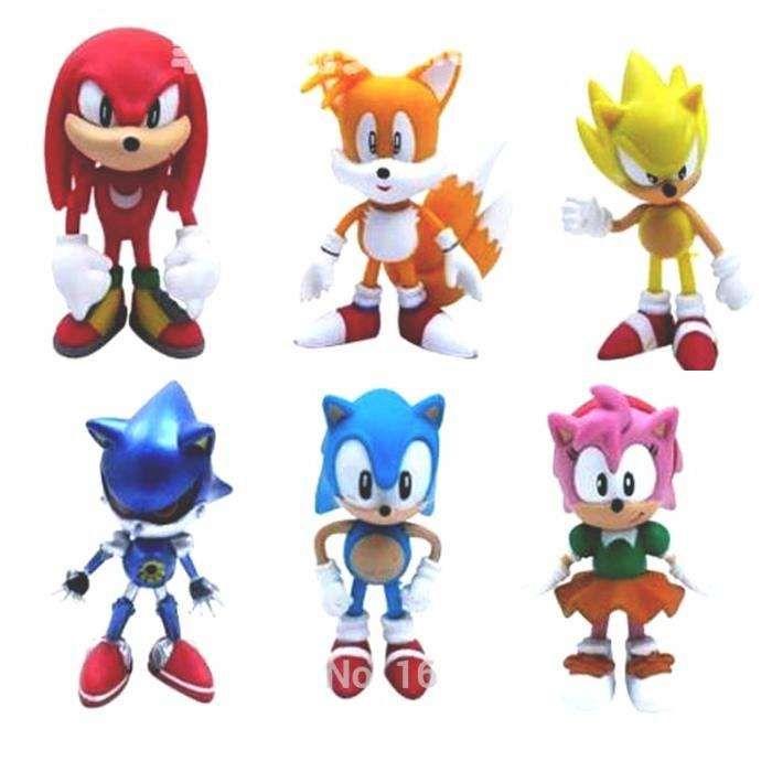 Conjunto 6 figuras Sonic - Sega (novas)