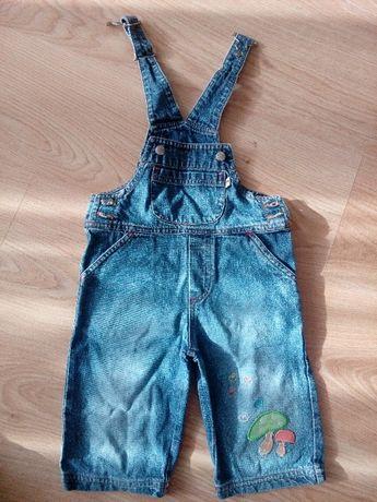 Spodenki ogrodniczki jeansowe Tupfel rozm. 68 cm