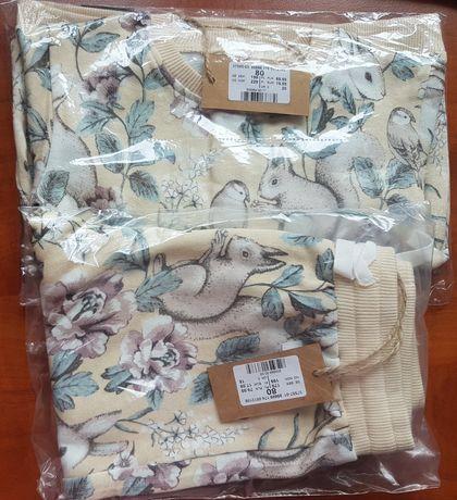 Newbie nowy dres bluza spodnie króliki 80
