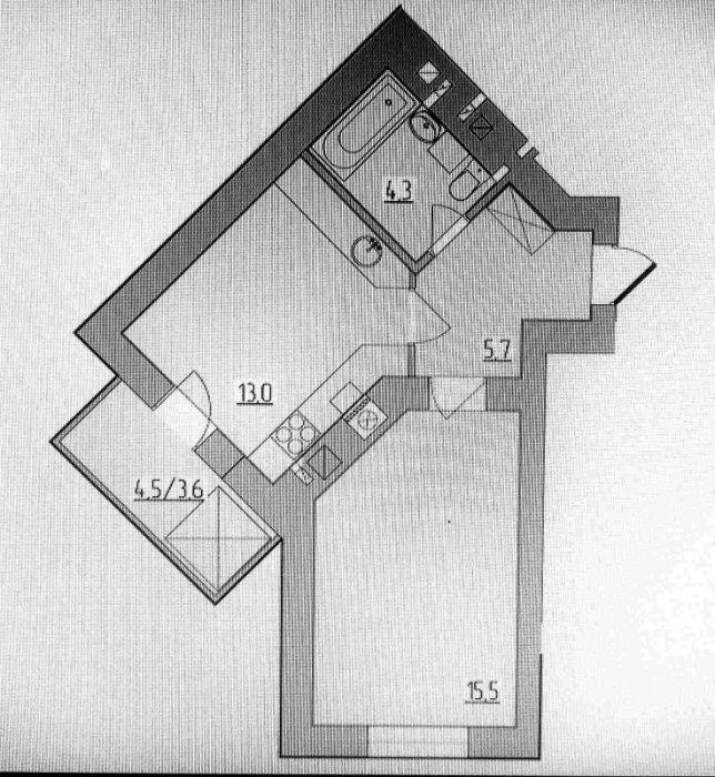 Продам 1 кімнатну квартиру в новобудові комфорт класу від Стограду! VV Ровно - изображение 1