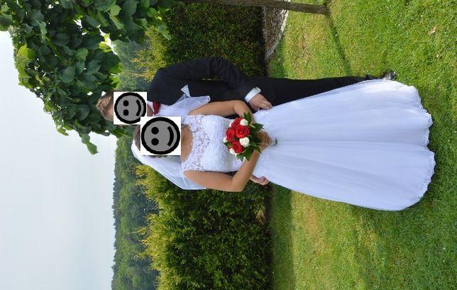 Zjawiskowa Suknia Ślubna, wyprana chemiczne, bez uszkodzeń