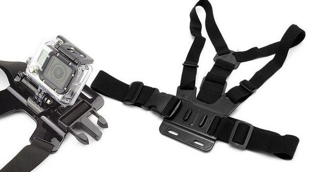 Correia de cinto ajustável ao corpo para câmara GoPro Xiaomi Yi