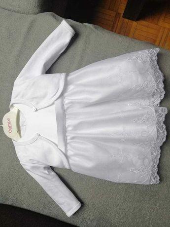 Komplet sukienka chrzest 62