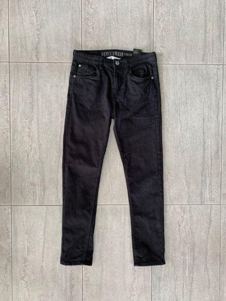 r. 152 cm / H&M czarne spodnie dżinsowe SKINNY FIT stretch