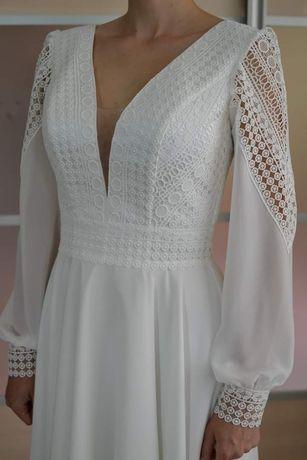 Весільне плаття колір айворі