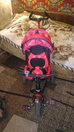 Продам детский велосипед с родительских рулём