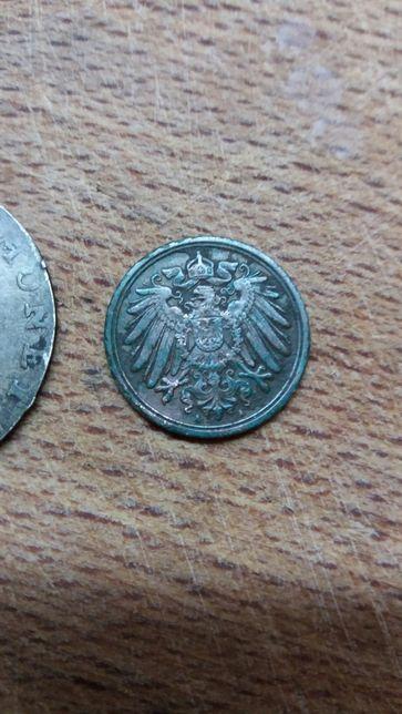 Niemcy - Cesarstwo - 1 Pfennig 1893 A- RZADKA !