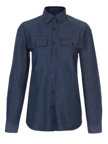 Koszula długi rękaw JEANS damska gładka niebieska 38 M