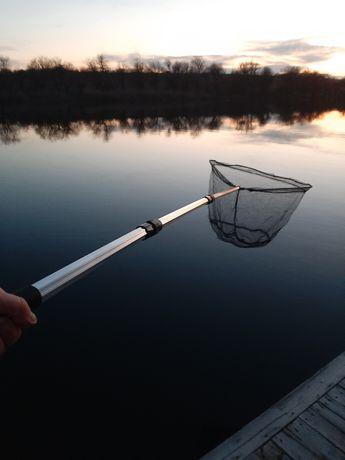 Подсак рыбацкий, подхват телескопический, садок, 2 метра, треугольный