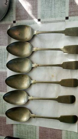 6 ложек с Английского серебра