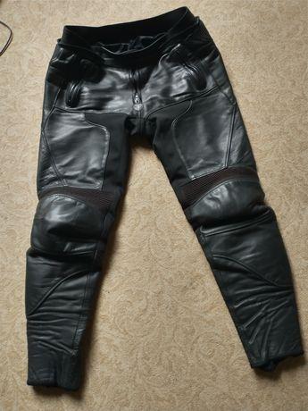 Spodnie motocyklowe męskie skórzane r 54