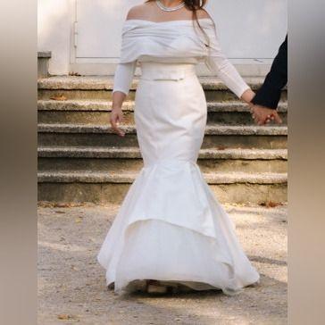 BOLERKO ŚLUBNE IVROY ECRU rękawy cienki swterek etola okrycie do ślubu