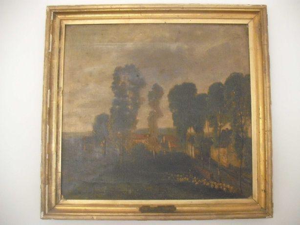 Quadro Pintura Antiga Sec XIX 1864