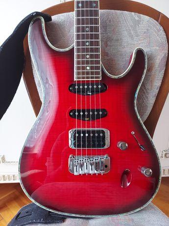 Gitara elektryczna Ibanez SA 360 qm trb z wklejanym gryfem.