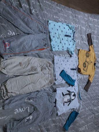 Zestaw 7 sztuk ubrań w r. 92 spodnie bluzki koszulki