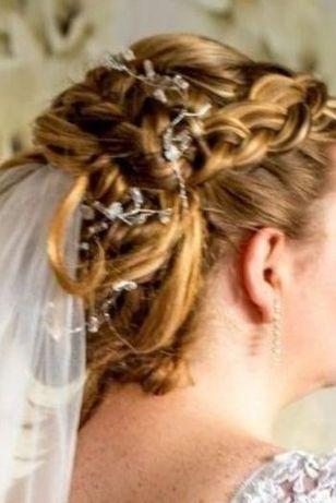 ozdoba do włosów kwiaty do koka fryzury ślubnej