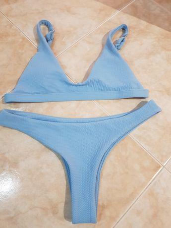 """Biquini Azul, peito tem """" almofada"""", nunca usado, tamanho L"""
