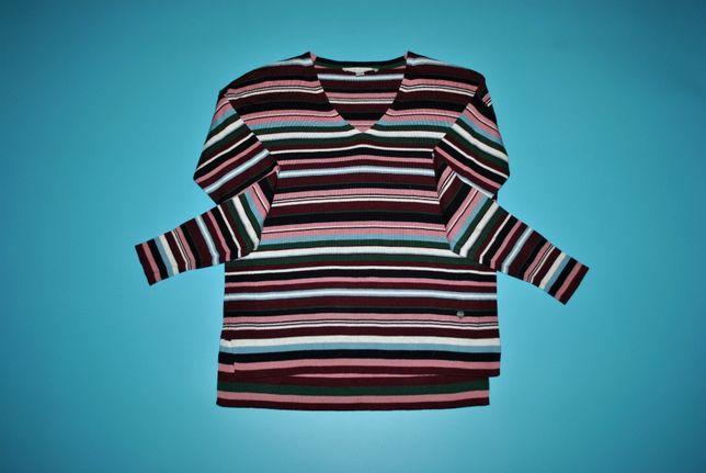 Кофта женская яркая полоска бордовая свитшот бренд ESPRIT свитер S M L