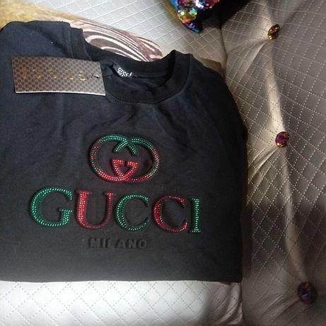 Wyprzedaż Ciepła bluza wytłaczane logo Gucci rozm.m L