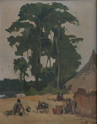 Óleo Sobre Madeira Henri Dufaux 2